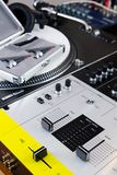 Professional equipment of a DJ Stock Image