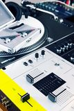 Professional equipment of a DJ Stock Photo
