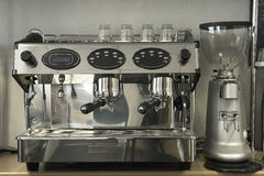 Professional espresso coffee maker machine Stock Image