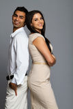 Professional ethnic couple. In business clothes stock photos