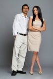 Professional ethnic couple Stock Photos
