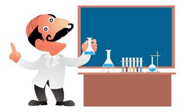 Professional explanation. Professional scientist doing his explanation Royalty Free Stock Photography