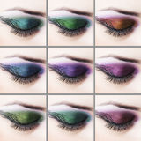 Professional eye makeup Stock Image