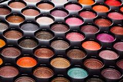 Professional eye shadows palette Royalty Free Stock Image