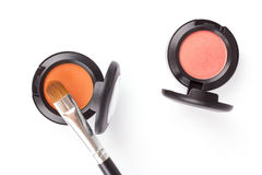 Professional eye shadows in round box Royalty Free Stock Photography