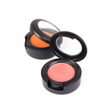 Professional eye shadows in round boxes Royalty Free Stock Photography