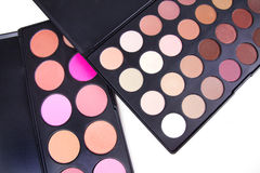 Professional eyeshadows and make-up corrector Stock Images