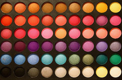 Professional eyeshadows palette Royalty Free Stock Photo