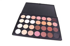 Professional eyeshadows palette on white Royalty Free Stock Image