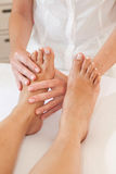 Professional feet massage Royalty Free Stock Images