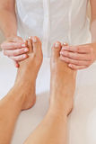 Professional feet massage Royalty Free Stock Image
