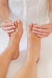 Professional feet massage Royalty Free Stock Image