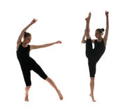 Professional female dancer in motion Stock Photos