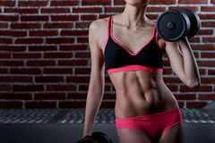 Professional female fitness trainer Royalty Free Stock Photography
