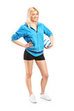 Professional female handball player Royalty Free Stock Photos