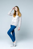 Professional female model Royalty Free Stock Image