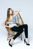 Professional female model Royalty Free Stock Photos