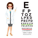 Professional Female Optician Royalty Free Stock Photos