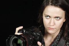 Professional Female Photographer Stock Photos