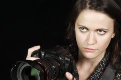 Professional Female Photographer stock photos