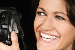 Professional Female Photographer Stock Image
