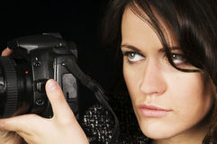 Professional Female Photographer Royalty Free Stock Image
