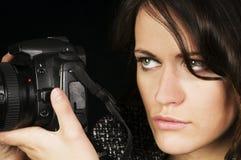 Professional Female Photographer royalty free stock image