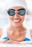 Professional female swimmer Stock Image