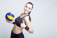 Professional Female Volleyball Athlete Royalty Free Stock Image