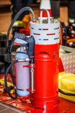 Professional fire extinguisher from the fire brigade.  Royalty Free Stock Photography