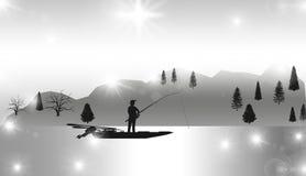 Professional Fisherman, Fishing, Nature,illustration. Professional Fisherman, Fishing, Nature,best illustration Stock Photo