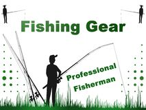 Professional Fisherman, Fishing, Nature,illustration,logo Royalty Free Stock Photography