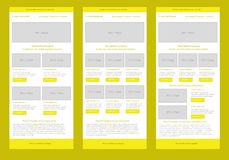 Professional flat style newsletter yellow template Stock Image