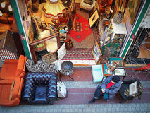 Professional Flea market stand in Paris Royalty Free Stock Photography