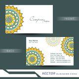 Professional floral business or visiting card design. Royalty Free Stock Image