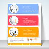 Professional flyer, brochure or template. Stock Photos