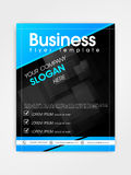 Professional flyer, template or brochure design. Stock Photography