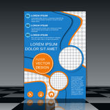 Professional flyer vector design. Professional flyer template. Brochure, mockup, business report, magazine cover, placard, corporate banner, presentation, poster Stock Image