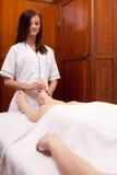 Professional Foot Massage Stock Photo
