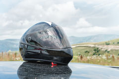 Professional full-face helmet for longboard Royalty Free Stock Photo