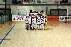 Acqua & sapone. The professional futsal team acqua & sapone before the italian match feldi eboli vs acqua & sapone Stock Photography