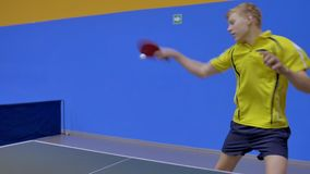 Professional Game of Table Tennis stock footage