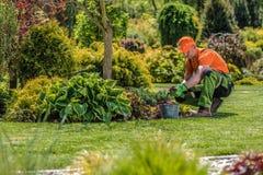 Professional Garden Worker stock image
