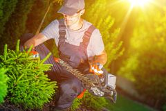 Professional Garden Worker Stock Images