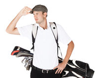 Professional golf player Stock Photography