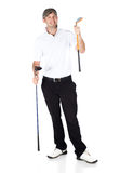 Professional golf player Stock Image