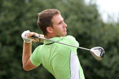 Professional golfer Elastino Goya royalty free stock photos