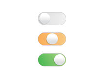 Professional gradient On Off Toggle switch button vector Royalty Free Stock Photos