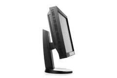 Professional graphic monitor, side view Royalty Free Stock Images