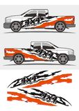Truck and vehicle decal Graphics Kits design. Professional graphics design decal kits for van vehicle and truck Truck and vehicle decal Graphics Kits design vector illustration